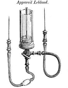 Apparecchio per la trasfusione del XIX secolo