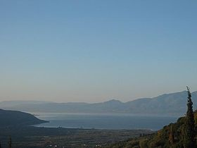Trichonida Lake, Etoloakarnania, Greece - View upon the lake.jpg