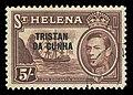 Tristan da Cunha 1952 5 shilling stamp.jpg