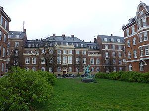 Domus Medica - The facade facing Trondhjems Plads