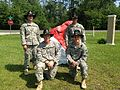 Troop C, 1-153 Cavalry, Florida National Guard, Officers at Annual Training 2013.JPG