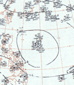 Tropical Storm June surface analysis 11 August 1964.png