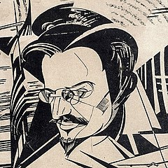 Trotsky Annenkow 1922 cartoon.jpg