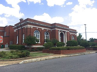 Troy, Alabama - An original Carnegie Library (built 1908) located in Historic Downtown Troy; now the Troy City Hall
