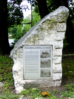 Tuckahoe (village), New York - Description sign monument at Tuckahoe Quarry