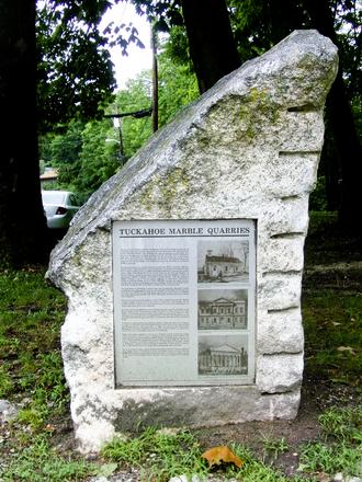 Tuckahoe (village), New York - Description sign monument at Tuckahoe Quarry