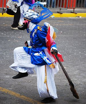 "Carnival in Mexico - Participant dressed as a ""Turk"" for the Carnival of Huejotzingo, Puebla"