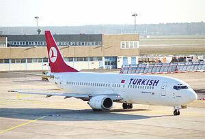 Turkish Airlines Flight 5904 - Image: Turkish Airlines Boeing 737 400; TC JEG@FRA;27.12.1995 (6172566192)