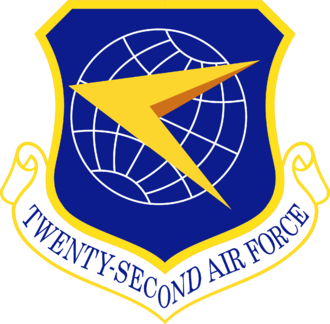 Joseph McNeil - Image: Twenty Second Air Force Emblem