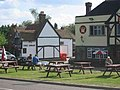 Two pubs opposite the common and the village sign Ley Hill - geograph.org.uk - 27985.jpg