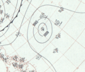 Typhoon Hester analysis 1 Jan 1953.png