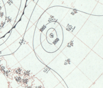 Typhoon Hester analysis 1 Jan 1953.png