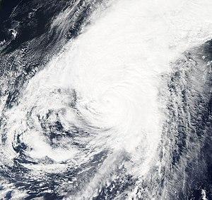 Typhoon Roke (2011) - Typhoon Roke affecting Japan on September 21