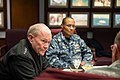 U.S. Army Gen. Martin E. Dempsey, left, the chairman of the Joint Chiefs of Staff, talks with incoming U.S. Strategic Command Commander Navy Adm. Cecil D. Haney, center, and other leaders at Offut Air Force 131114-D-KC128-063.jpg