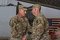 U.S. Army Lt. Gen. Joseph Anderson, left, the commander of the International Security Assistance Force Joint Command, welcomes Command Sgt. Maj. Scott Frey, the senior enlisted adviser with the 63rd Ordnance 140628-A-DS387-095.jpg