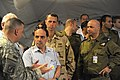 U.S. Navy Rear-Admiral John M. Richardson visits Camp Cobra, Israel, with members of IDF leaders on 1 November, 2009.jpg
