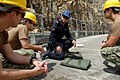 U.S. Navy Sailors assigned to Explosive Ordnance Disposal Mobile Unit Five, Platoon 503 participate in a subject matter expert exchange with members from the Hong Kong Police Force, Explosive Ordnance Disposal 120713-N-WW409-310.jpg