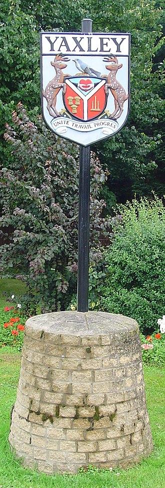 Yaxley, Cambridgeshire - Signpost in Yaxley