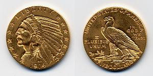 f37fd60291a5 Moneda de oro estadounidense de cinco dólares  Media Águila de 1914. Las  reservas de oro del Banco de España se encontraban fundamentalmente en  forma de ...