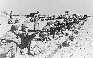 Army Air Forces Training Command - Basic small arms training on the beach, Atlantic City, New Jersey center, 1942