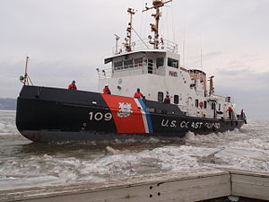 USCGC Sturgeon Bay (WTGB-109) - Cutter Sturgeon Bay at Rhinecliff landing, 2014