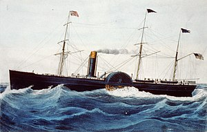 American transatlantic steamship, 'Arago', 1856. Pictures | Getty ...