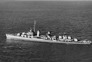 USS Brownson (DD-518) - Image: USS Brownson (DD 518) underway at sea, circa in early 1943 (NH 107241)
