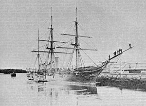 USS Galena (1862) - Galena, after 1864 refit as a wooden sloop