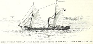 USS Seneca (1861) - Image: USS Seneca at Port Royal