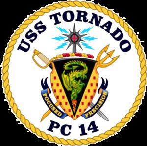 USS Tornado - Image: USS Tornado PC 14 COA