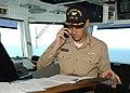 US Navy 021011-N-6817C-004 CVN 72 XO conducts business on the ship's bridge.jpg