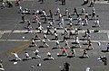 US Navy 030501-N-2143T-003 Sailors assigned to USS Nimitz (CVN 68) and Carrier Air Wing Eleven (CVW-11) participate in cardio-kickboxing during a steel beach picnic.jpg