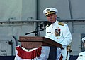 US Navy 031003-N-9999H-003 Adm. Robert J. Natter, Commander, U.S. Atlantic Fleet, speaks during his Change of Command ceremony.jpg