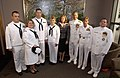US Navy 041014-N-3659B-002 Members of the McIntyre family along with recruiters from the active and Reserve components assigned to Navy Recruiting District Montgomery, Ala., pose for a photo with Commander, Navy Recruiting Comm.jpg