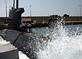 US Navy 050619-N-1464F-006 The Dutch submarine HNLMS Dolfijn (S 808) conducts a low-pressure blow during pre-underway checks in Taranto Naval Base Mar Grande.jpg