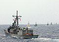 US Navy 050719-N-4374S-001 The guided missile frigate USS Samuel B. Roberts (FFG 58) maneuvers into a formation along with naval and coast guard units from Colombia, Chile, Ecuador, Peru and Panama during UNITAS 46-05.jpg