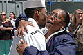 US Navy 060502-N-5055G-066 Family members welcome home the Sailors of the guided missile destroyer USS Winston S. Churchill.jpg