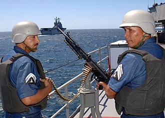 Heckler & Koch HK21 - Mexican navy gunners prepare to fire HK21