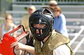 US Navy 070515-N-1134L-004 A plebe, or midshipman 4th class, sizes up his opponent during the pugil-stick event during Sea Trials at the U.S. Naval Academy.jpg