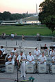 US Navy 080611-N-2257C-007 Musician 1st Class Robert A. Holmes plays baritone saxophone with the Commodores jazz ensemble on the west steps of the U.S. Capitol.jpg