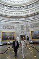 US Navy 080627-N-9818V-129 Master Chief Petty Officer of the Navy (MCPON) Joe R. Campa Jr. tours the Capitol with Rear Adm. John Eisold.jpg