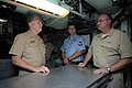 US Navy 080818-N-8273J-218 Chief of Naval Operations (CNO) Adm. Gary Roughead speaks with Sailors while visiting the Los Angeles-class fast-attack submarine USS Columbia (SSN 771).jpg