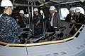US Navy 091221-N-4482V-005 Rear Adm. Joseph Kilkenny, commander of Naval Education and Training, and his senior staff, listen to Lt. j.g. Justin Guernsey explain the operation of the control panel.jpg