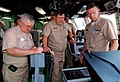 US Navy 100411-N-7058E-127 Cmdr. Randy Garner explains the ship's equipment monitoring systems to Mexican navy Adm. Nestor Yee and Mexican navy Vice Adm. Jaime Mejia.jpg