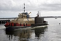 US Navy 110920-N-FG395-014 The Peruvian navy submarine BAP Antofagasta (SS 32) arrives in Naval Submarine Base Kings Bay for a port visit.jpg
