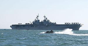 US Navy 120202-N-NU634-356 An amphibious assault vehicle navigates toward the amphibious assault ship USS Wasp (LHD 1) during exercise Bold Alligat.jpg