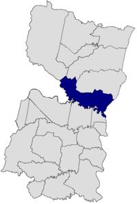 Hernandarias dans le département d'Alto Paraná