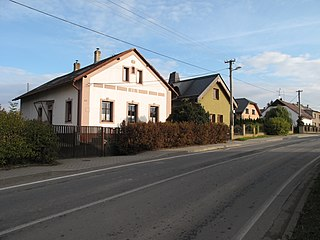 Uhlířov village in Opava District of Moravian Silesian region