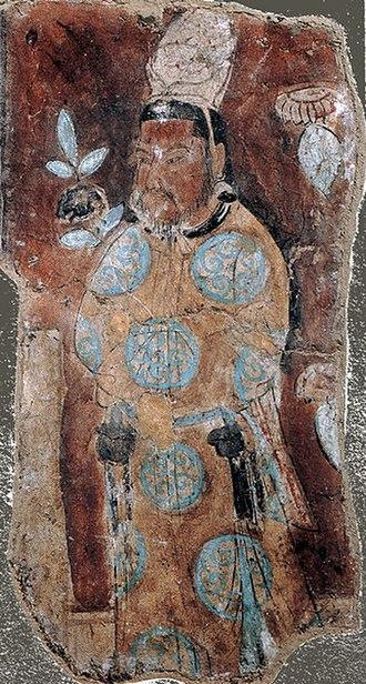 Uyghur Khaganate - Image: Uighur prince from Bezeklik murals