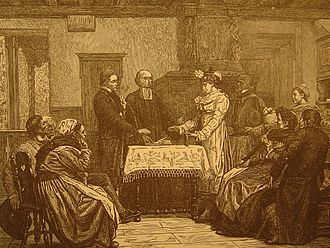 Gustave Brion - A Wedding in Alsace, 1872.